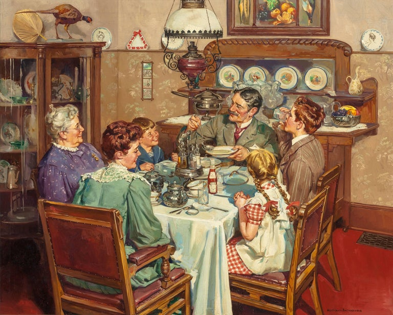 A Good Table is an American Tradition - Painting by Harold Anderson