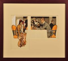 Couple at Elegant Restaurant