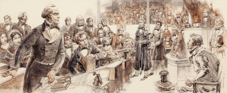 Spectators Overflow, Collier's Magazine Illustration
