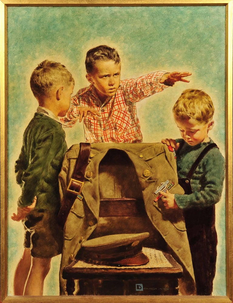 Three Young Boys - Painting by Spencer Douglass Crockwell