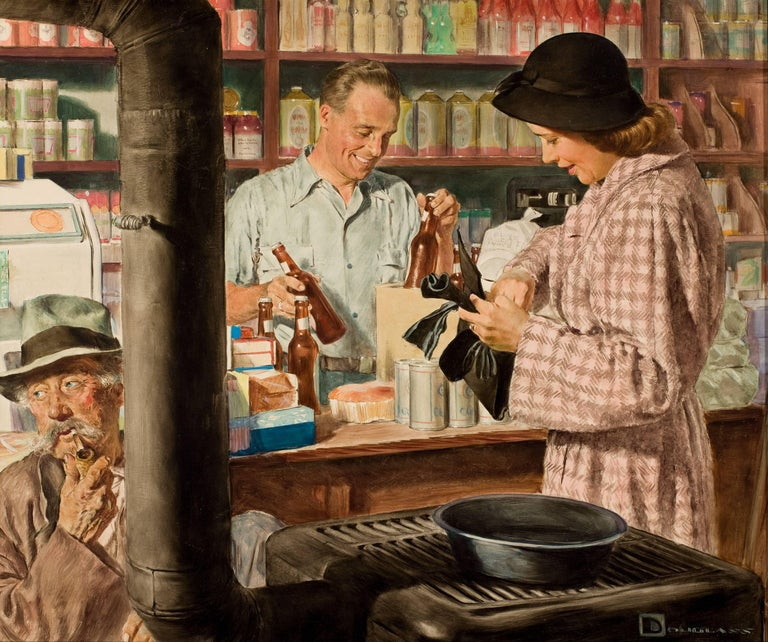 Spencer Douglass Crockwell Figurative Painting - Country Store