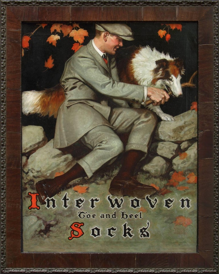 Interwoven Socks Advertisement  - Painting by Walter Beach Humphrey