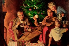 Christmas Scene, Maxwell Coffee Advertisement