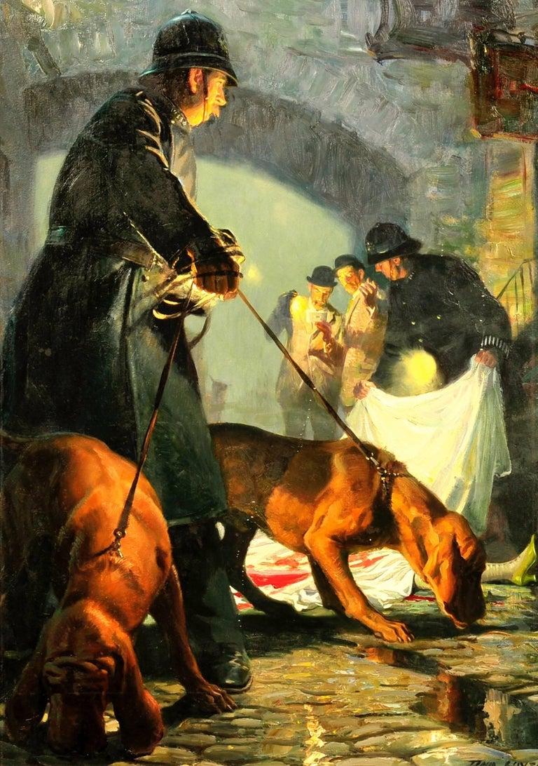 Tom Lovell Figurative Painting - The Crime Scene