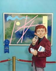 Alfred Neuman at an Art Exhibit