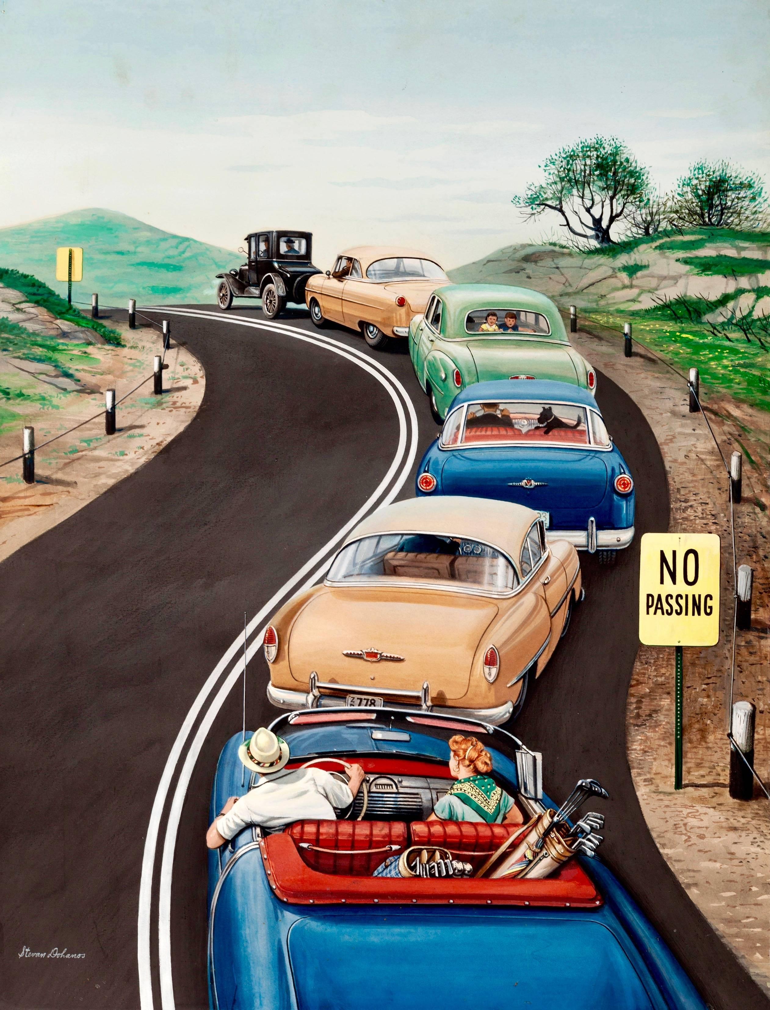 No Passing, Saturday Evening Post Cover