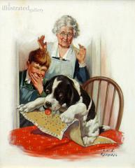 Grandma, Boy & Dog