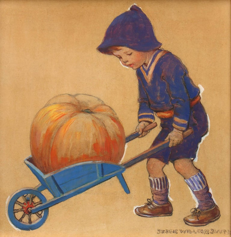 Jessie Willcox Smith Figurative Painting - Thanksgiving, Good Housekeeping Magazine Cover