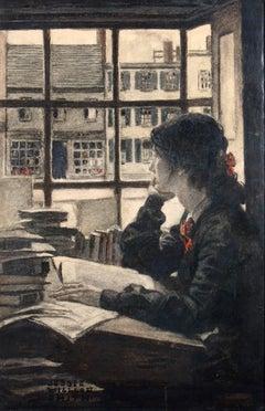 Young Woman Gazing