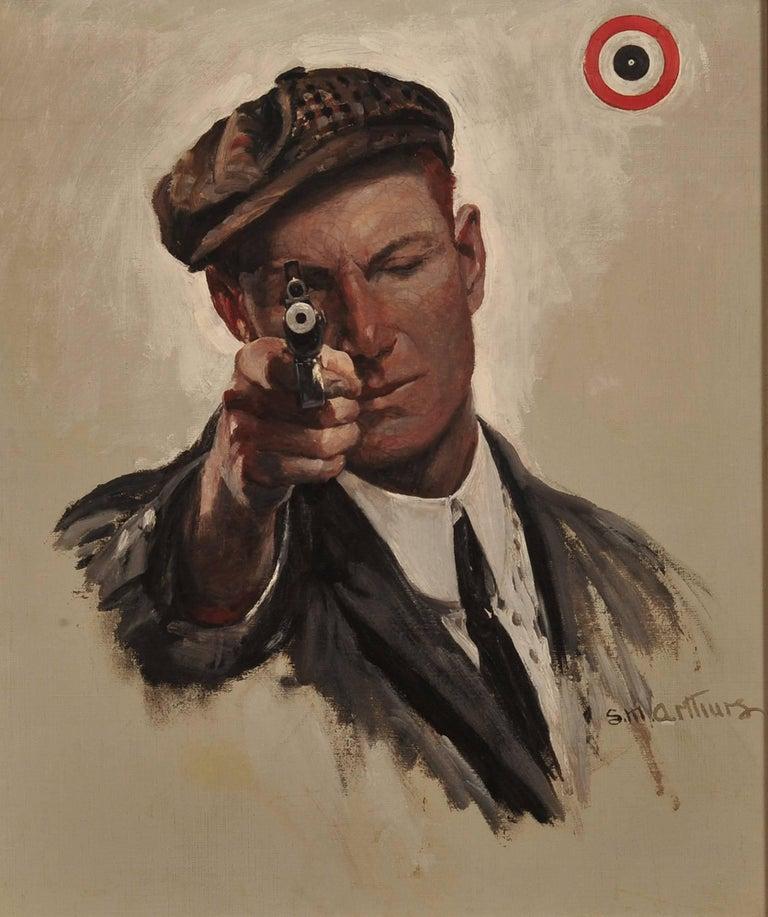 Stanley Massey Arthurs Portrait Painting - Bulls Eye, Saturday Evening Post Cover