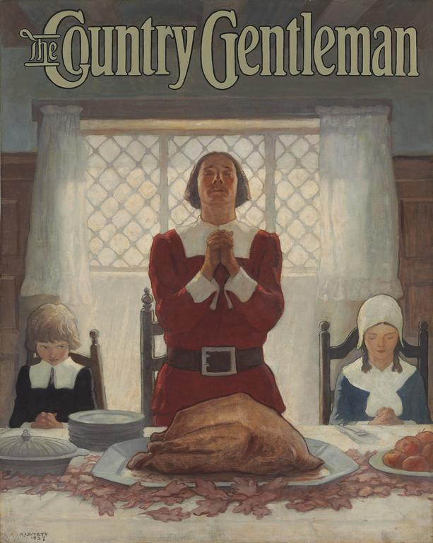 <i>An Early Thanksgiving</i>, <i>Country Gentleman</i> magazine cover, 1926, offered by the Illustrated Gallery