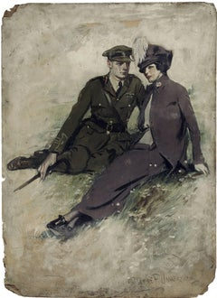 A Soldier and His Girl, Magazine Story Illustration