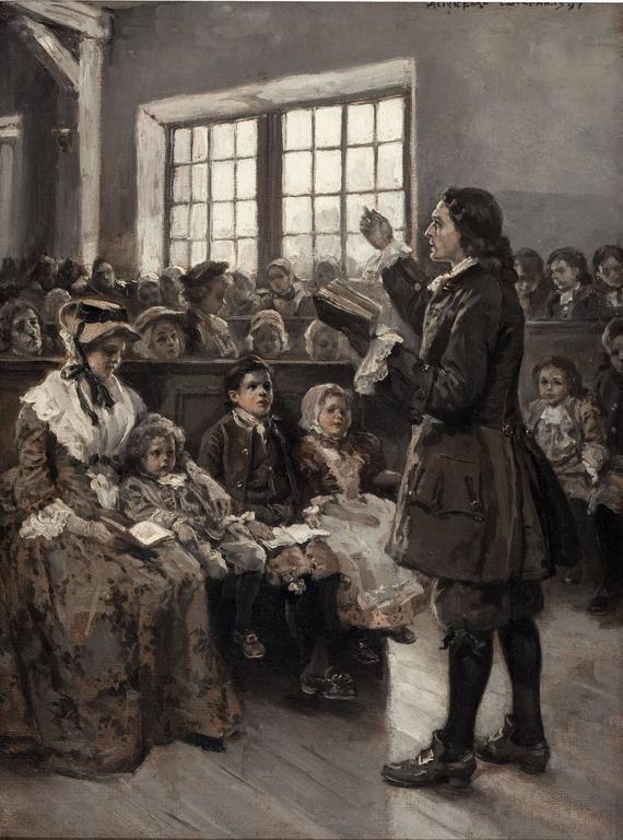 Alice Barber Stephens - John Wesley Teaching his Sunday ...