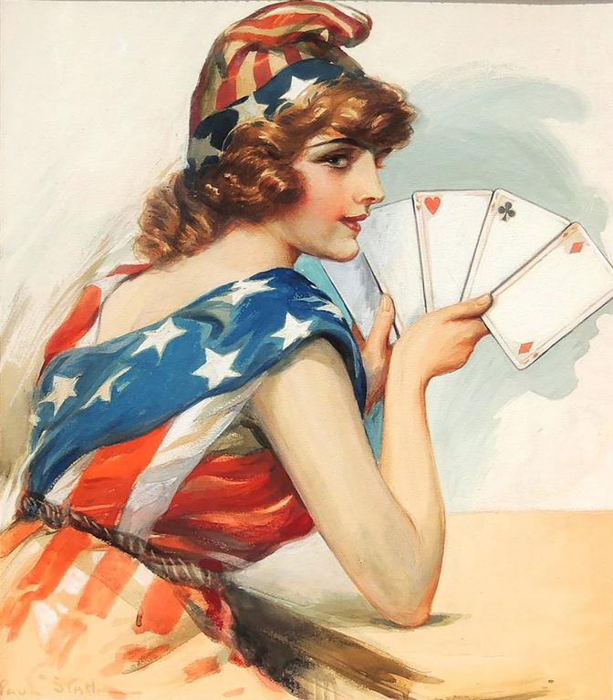 Lady Liberty Playing Cards
