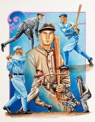 Group of Four: Baseball Themed Illustrations