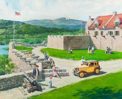 Fort Ticonderoga, Ticonderoga, New York, 1930 Austin Bautam