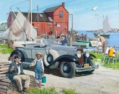 Pier Scene, Great Moments in Early American Motoring