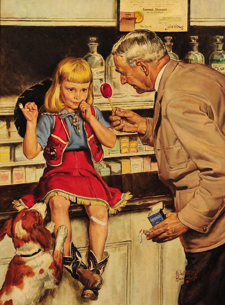 Walter Martin Baumhofer Figurative Painting - The Druggist