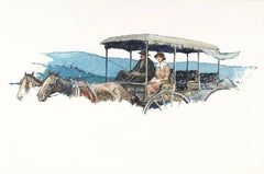 Couple in a Horse-Drawn Carriage