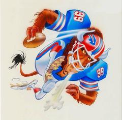 Buffalo Bills Football Illustration