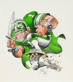 Michigan State Spartans Football Illustration