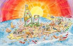 "Miller High Life ""Spring Break"" Advertising Painting; Original Art"