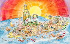 "Miller High Life ""Spring Break"" Advertising Painting; Original Art"