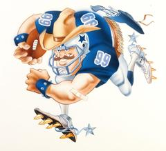 Dallas Cowboys Football Illustration