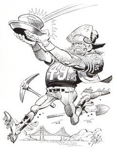 San Francisco 49ers Football Illustration