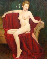 Portrait of a Nude Blonde