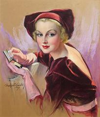 Carole Lombard Holding Compace, Cosmopolitan Magazine Cover