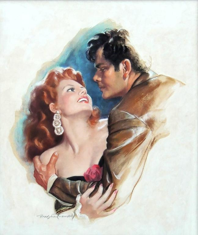 Rita Hayworth & Glen Ford, Movie Poster Illustration