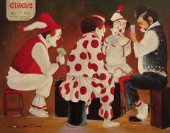 Hobo & Three Clowns at Poker