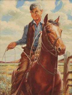 Will Rogers on a Horse, Calendar Illustration