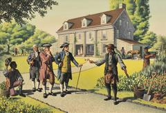 Colonial Men Conversing
