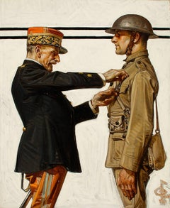 Croix de Guerre, Saturday Evening Post Cover, 1918
