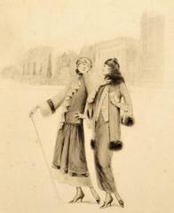 Two Women on a Paris Street