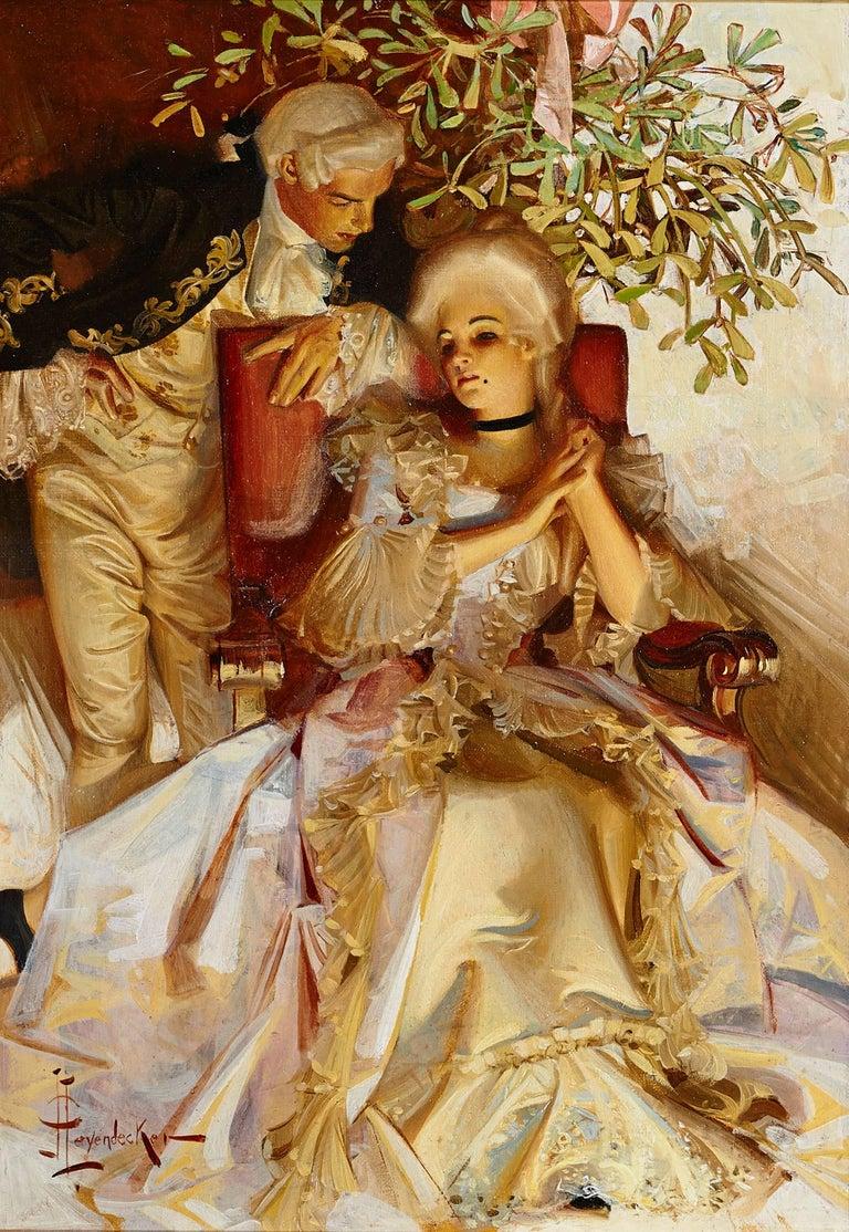 Joseph Christian Leyendecker Figurative Painting - The Courtship, Success Magazine Cover