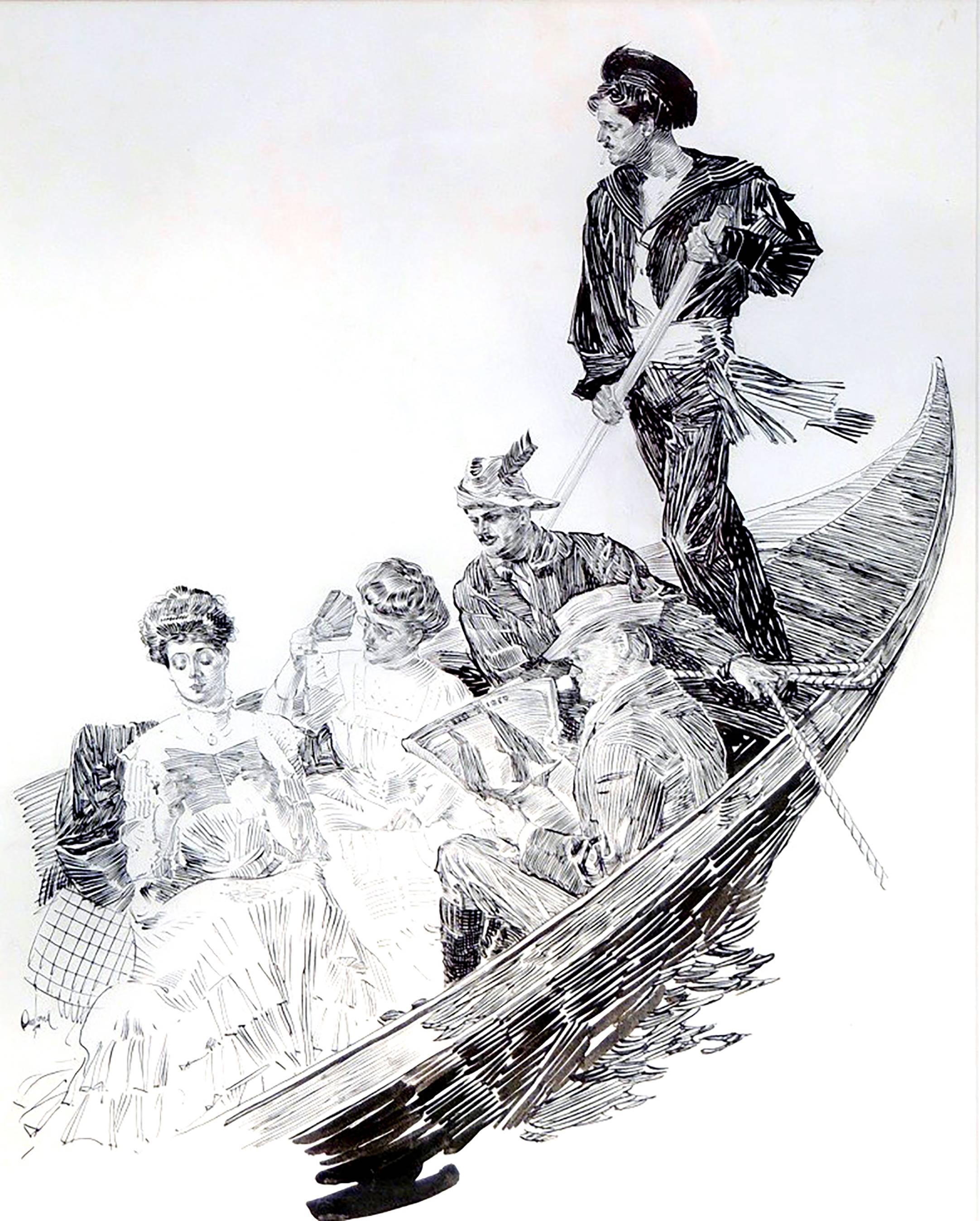 Travelers in a Gondola