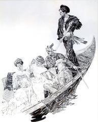 Travelers in a Gondola