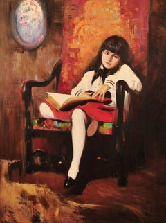 Portrait of Girl in Red Chair