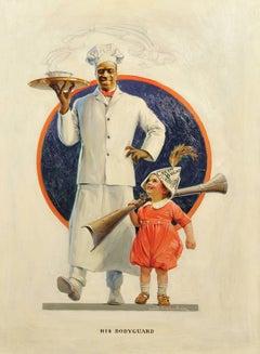"""His Bodyguard,"" Cream of Wheat Advertisement, Saturday Evening Post, 1921"