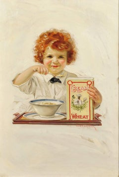 """""""Little Indian Sioux"""" Cream of Wheat Ad, Saturday Evening Post, 1920"""
