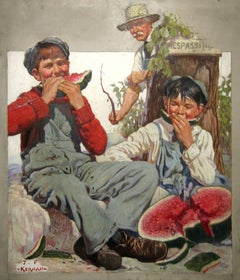 Young Boys Trespassing & Eating Watermelon