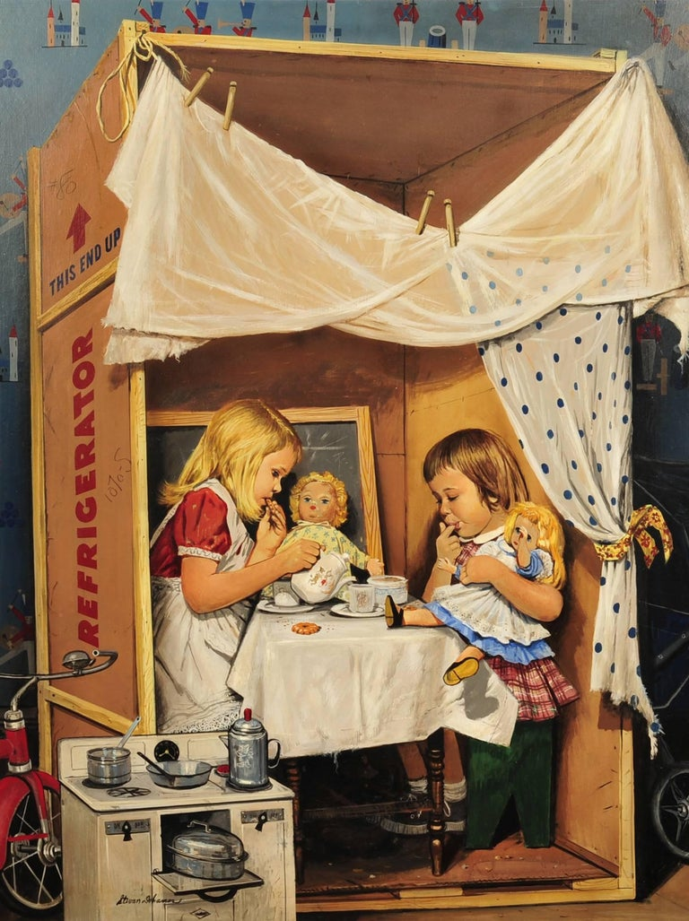 Stevan Dohanos Figurative Painting - Saturday Evening Post Cover, July 31, 1953