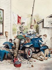 Working on the Jalopy, Saturday Evening Post Cover