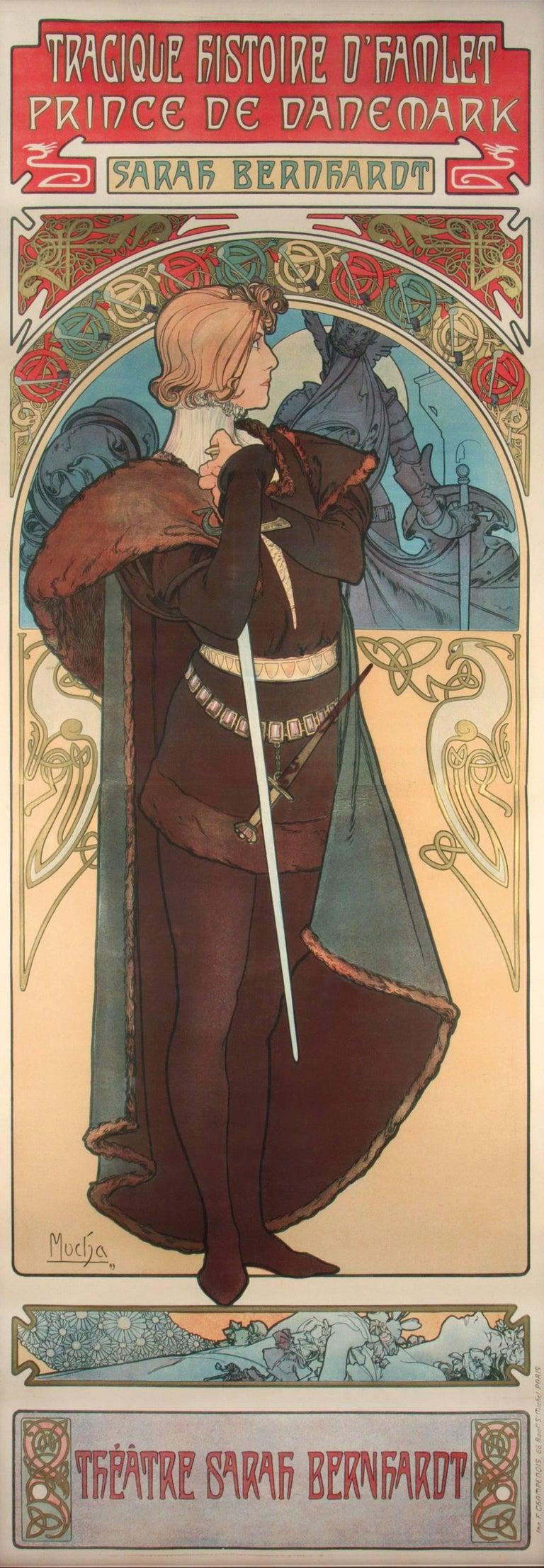 Alphonse Mucha Figurative Print - Hamlet