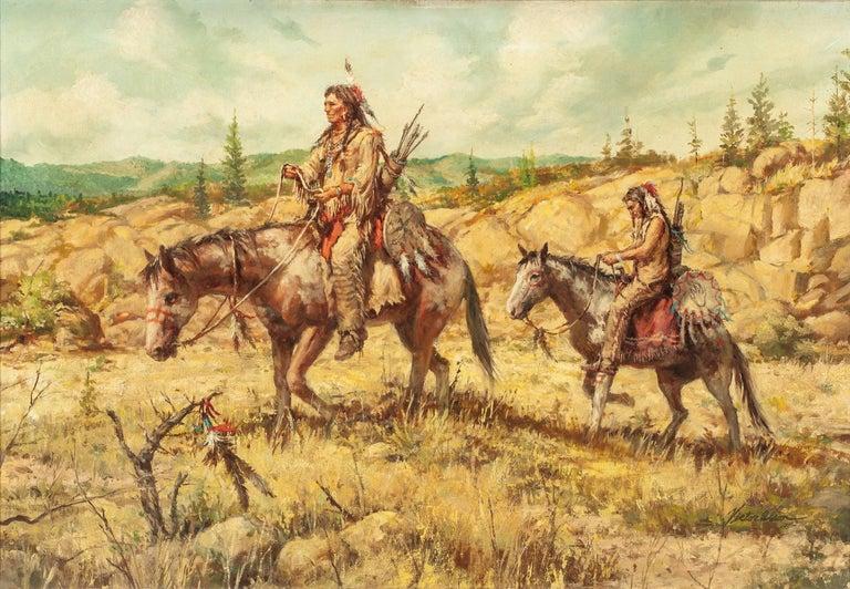 Victor Olson Figurative Painting - Western Scene