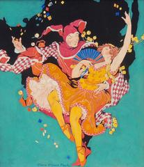 Frolicking Harlequin and Ballerina, Theatre Magazine Cover