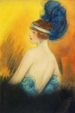 Flapper Era Woman with Feathered Headdress